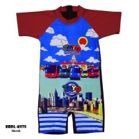Baju Renang Anak Diving Karakter Tayo usia 3-7thn BRDA-78