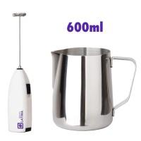 Milk Jug Steam pitcher 600cc + milk frother paket Duo