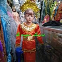 Baju padang anak // baju adat padang sunting // baju adat minang - Merah, S