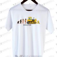 Kaos Civil Engineer Evolution atau Tukang Bangunan 07 Cotton Combed