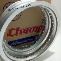 velg champ ring 14 tapak lebar set depan belakang 185 215 14