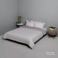 7Star King Rabbit Bed Cover size 230 x 230 Warna Mono Pink