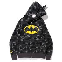 jaket hoodie bathing ape kaos BAPE X DC comic batman camo