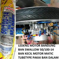 Ban Luar Swallow 50/100-14 Tubetype SB-115 Roda Kecil Motor Matic Drax