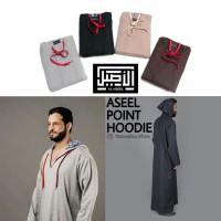 AL ASEEL POINT HOODIE - Jubah Gamis Pria Asheel Kupluk Sweater Jaket