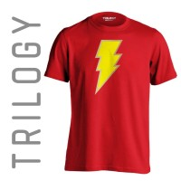 Kaos Premium Brand TRILOGY Comic Shazam Logo Tshirt