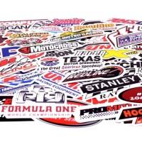 Stiker otomotif nascar formula one racing kart rimowa koper travel
