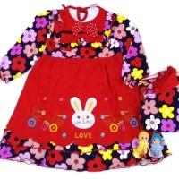 Dress Baju Gamis Muslim Anak Bayi Cewek Perempuan 002 ( 4 - 12 Bln )