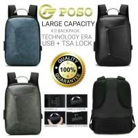 Tas Ransel Xiaomi Geek POSO Backpack Anti Maling USB Port TSA lock
