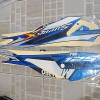 Stiker Bodi & Lis Body & Striping Supra X 125 2013 Biru