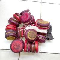 yoyo kayu isi 20 pcs yo-yo jadul unik mainan tradisional