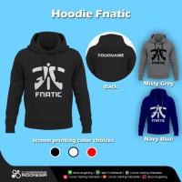 Hoodie Fnatic Logo Official - Gaming Apparel Jaket Esports