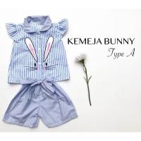 Baju bayi baju anak KEMEJA BUNNY TYPE A babeebabyshop setelan anak