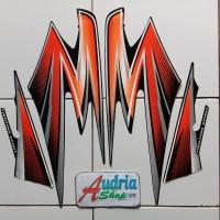 Stiker Striping Motor Yamaha Rx King 2003 Orange