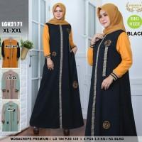 Baju Gamis Anggun Trendy Untuk Santai Bahan Moscrepe-all size fitto XL