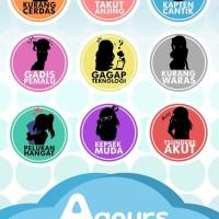 Aqours - Quote Badges set