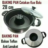 Loyang Cetakan Jue Bolu Teflon Anti Lengket Backing Pan 28cm