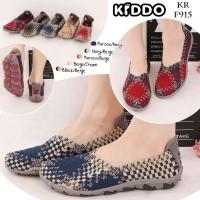 Kiddo F 915 Original Sepatu Wanita Anyaman Rajut Impor