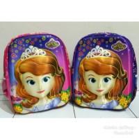 Tas sekolah anak TK SD 3D timbul 3 D motif Princess Sofia the First