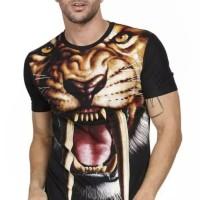 masitoshop Baju Kaos pria SINGA Macan Harimau tiger 3D animal binatang