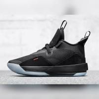 Sepatu Nike Air Jordan 33 Utility Blackout - Black White Dark Grey