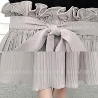 celana kulot ruffle pleated long culot import wanita korea jumbo