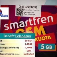 kartu perdana internet smartfren now 5gb kuota 3 5 gb data 1gb bk 13gb