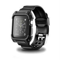 armor rubber strap silicone case apple watch 38mm 42mm series 1 2 3