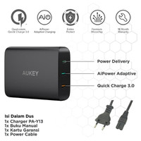 ORIGINAL Aukey Charger 74.5W with PD 3.0, Quick Charge 3.0 & Aipower
