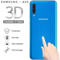 SKIN CARBON SAMSUNG A50 BACK CASE NON TEMPERED GLASS