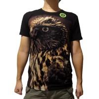 Baju Kaos Tshirt Big Size 3D Glow in the dark Animal Elang Burung