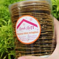 almond crispy ( kue kering toples / cookies rasa green tea )