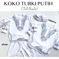 Koko Turki Putih / Baju Koko Anak / Baju Koko Bayi / Baju Muslim Bayi