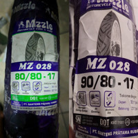 Ban Motor Mizzle 80/80-17 Dan 90/80-17 Paket MZ-028 Tubetype Bukan Tub