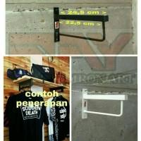 Gantungan Baju Besi Rak Ambalan Shelf Bracket Gantungan Serbaguna GB01