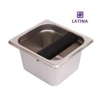 Latina Knock Box stainless Big Bar Short STA-3330 Size 17x16x10H cm
