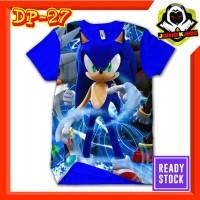 Kaos Sonic Hedgedog Biru Baju Anak dan Dewasa Murah Tokoh Game movies