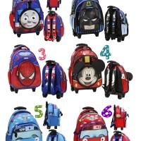 Tas Anak Sekolah TK & PG Trolley Thomas Bahan Kain Sponge Anti Air