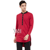 VM Baju Koko Muslim Merah Maroon Gamis Koko Muslim