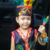HOT SALE Dayak TK Wanita Lengkap   Baju Adat Kostum Anak Karnaval