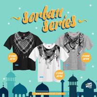 Baju Kaos Anak Sorban 3D Lengan Pendek Laki-Laki Cowok Muslim Ammarkid