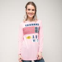 SEYES 4414 Tshirt Kaos Cewe Cotton Premium Baju lengan panjang Wanita