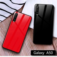 Case Glass Samsung Galaxy A50 Soft Hard Back Cover Tempered Mirror
