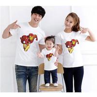 Kaos Baju Tshirt Couple Family Iron man