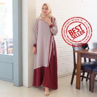 Gamis Syari Maxi Raline / Dress Muslim Arabian Crepe Premium