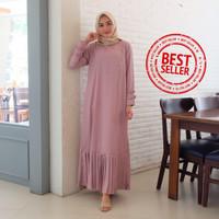 Gamis Syari Maxi Najma / Long Dress Muslim Arabian Crepe Premium