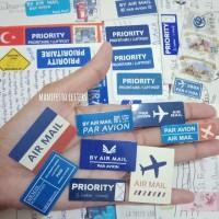 Sticker Airmail 8 pcs journaling penpal scrapbook snailmail par avion