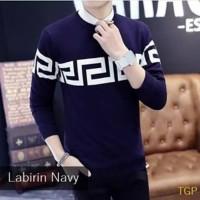 sweater rajut pria baju keren cowok korea atasan murah