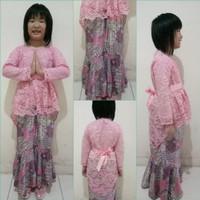 Kebaya Baju Anak Perempuan Cewek Cewe Cew Batik Pakaian Modern Murah
