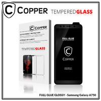 Samsung A7 2018 / A750 -Tempered Glass Full Glue PREMIUM Glossy COPPER